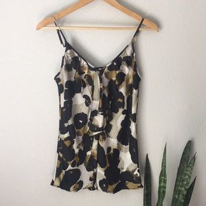 Cabi Ruffle front Animal Print Camisole Top